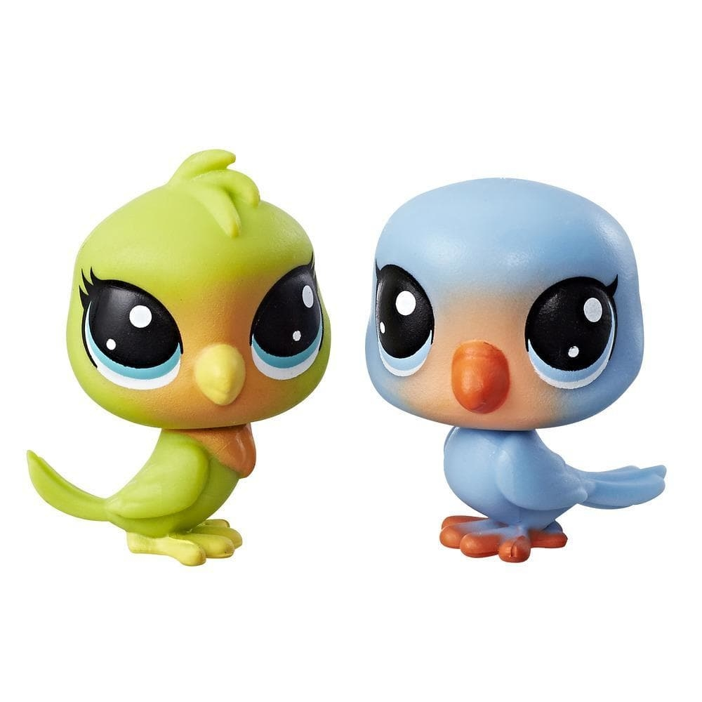 set minifigurine littlest pet shop seria 1 - lolly lovington & leo lovefeather