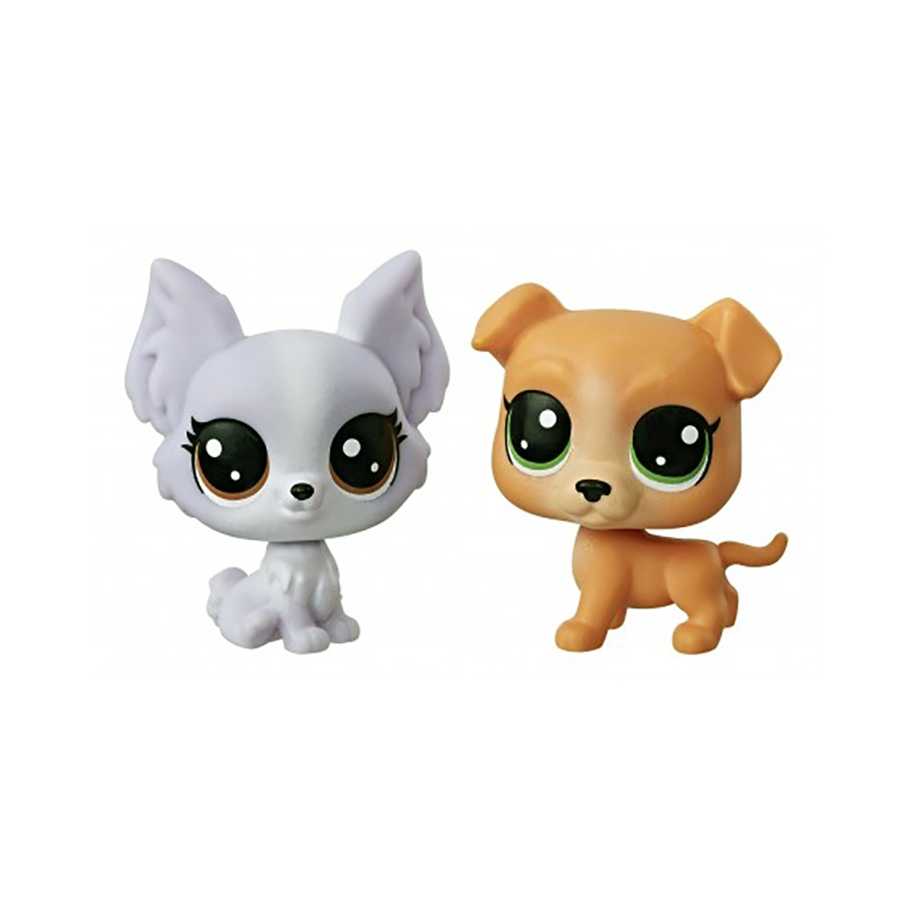 set minifigurine littlest pet shop seria 1 - pitbull & papillion