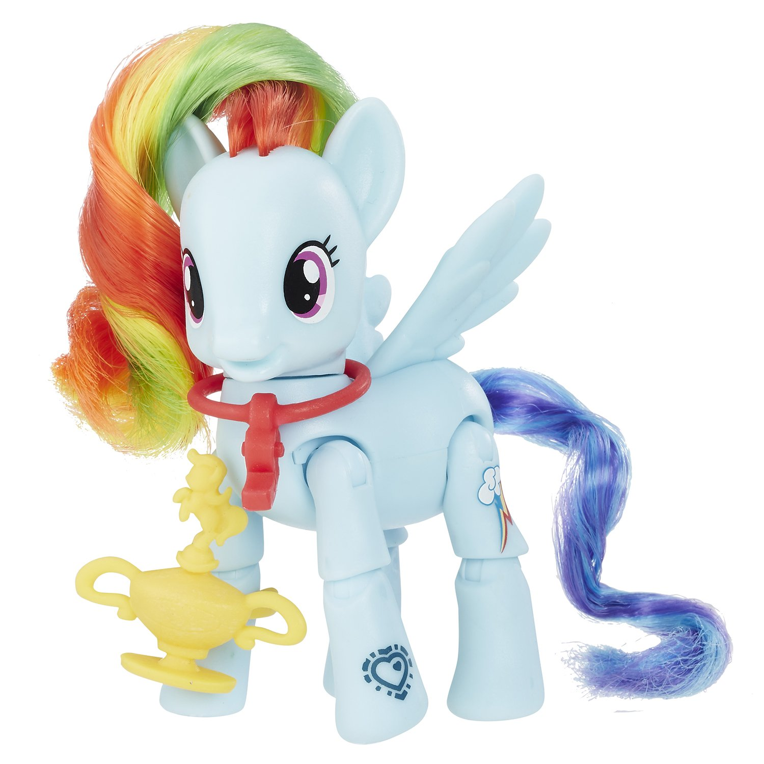 set my little pony cu figurina articulata - rainbow dash sportiva