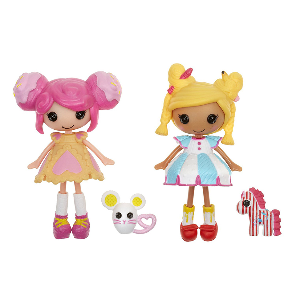set papusi lalaloopsy minis deluxe-spot splatter splah and crumbs cookie