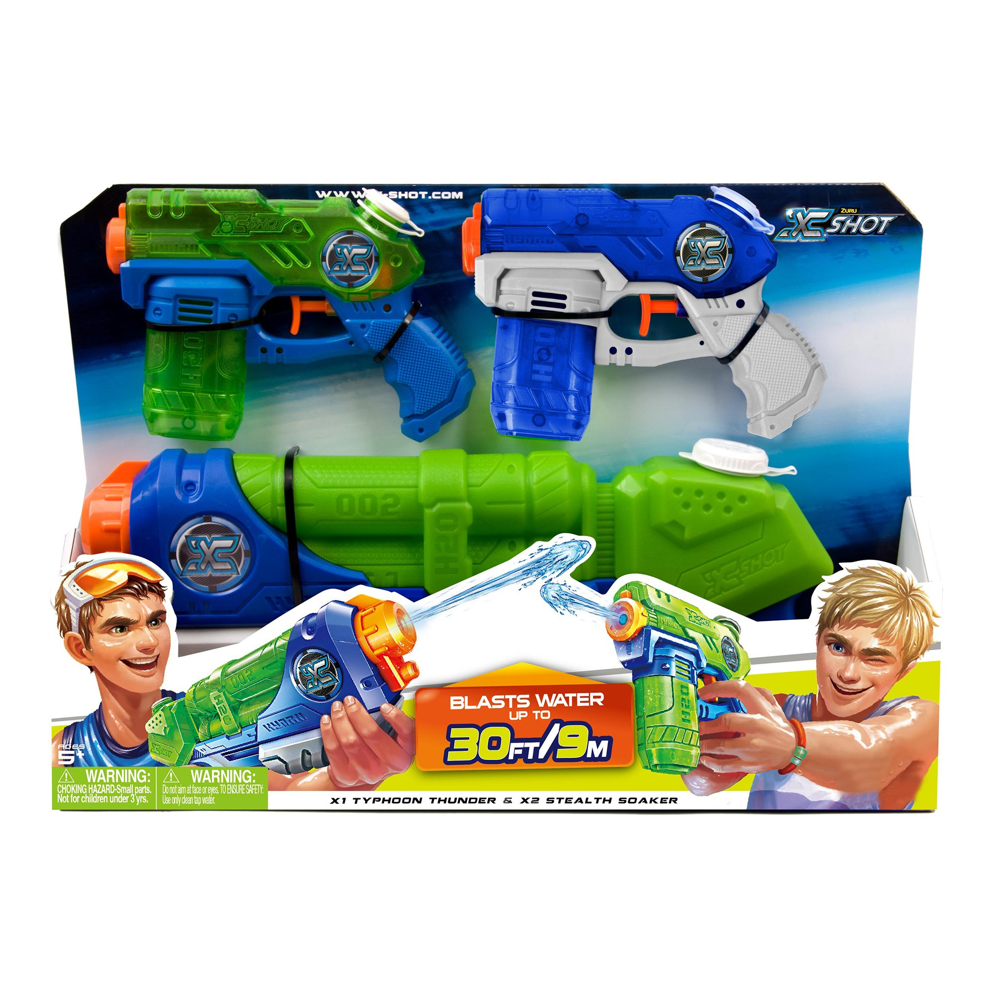 Set pistoale cu apa X-Shot - Typhoon Thunder si Stealth Soaker