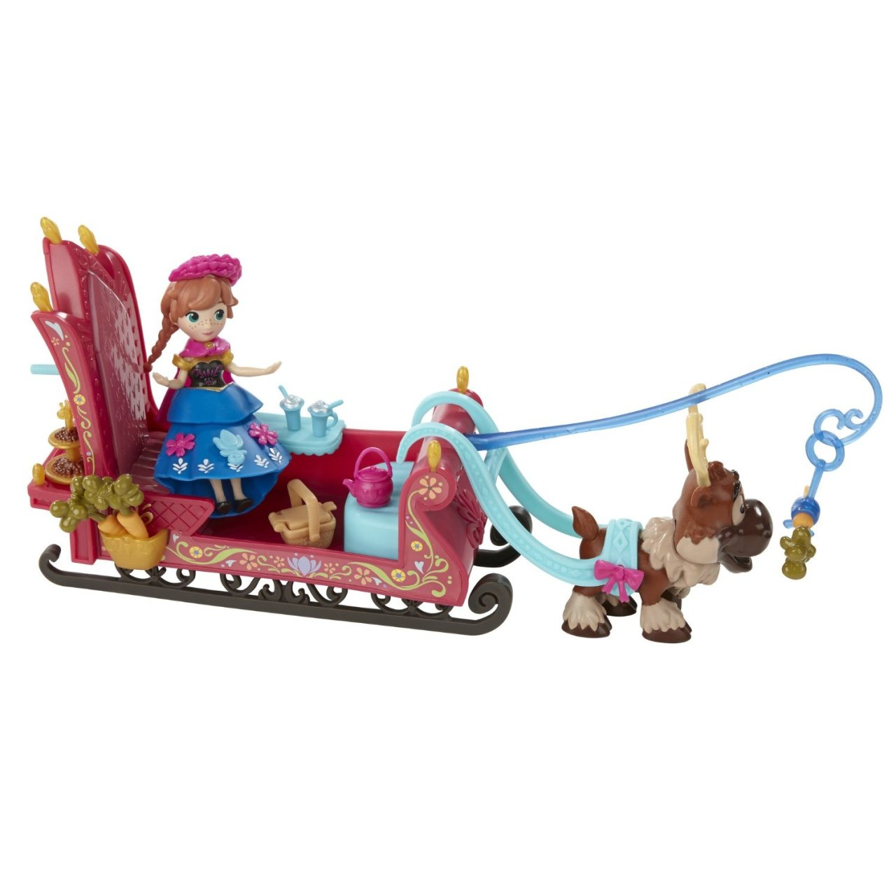 set tematic cu figurina disney frozen micul regat - sania annei