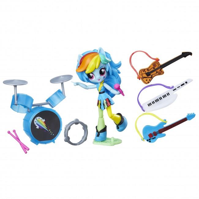 set tematic cu figurina my little pony equestria girls mini - rainbow dash