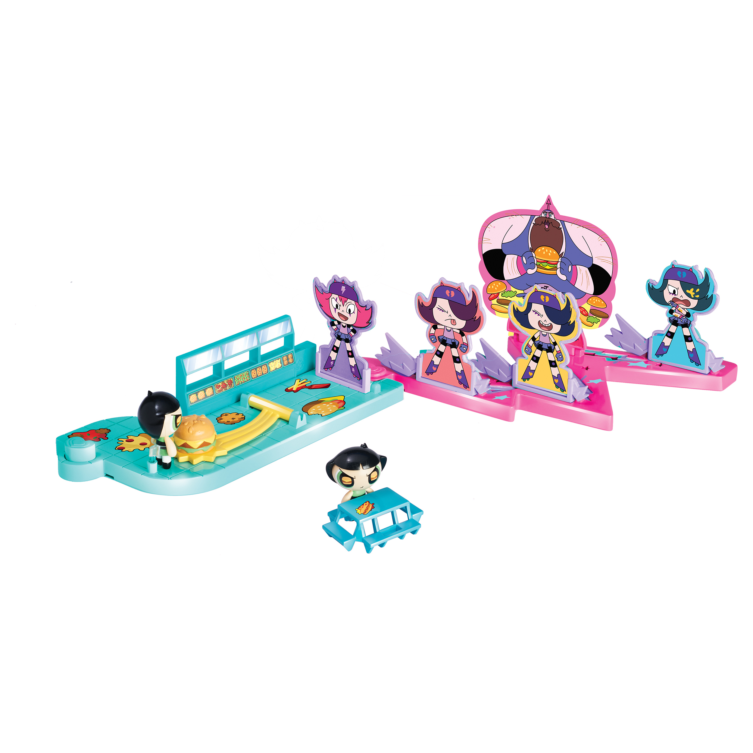 set tematic cu figurina powerpuff girls scenariu de poveste - derby dash