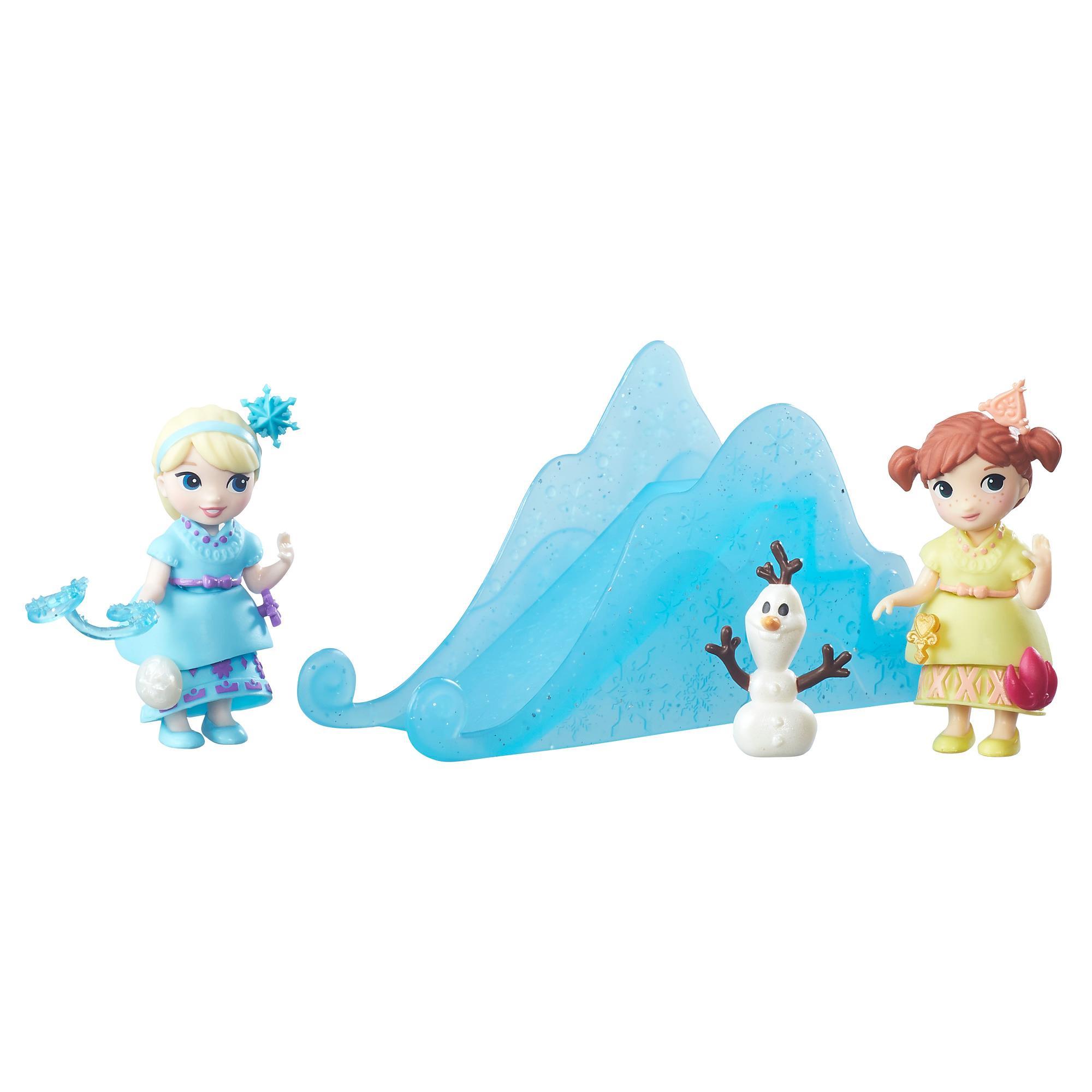set tematic cu figurine disney frozen - setul surorilor frozen