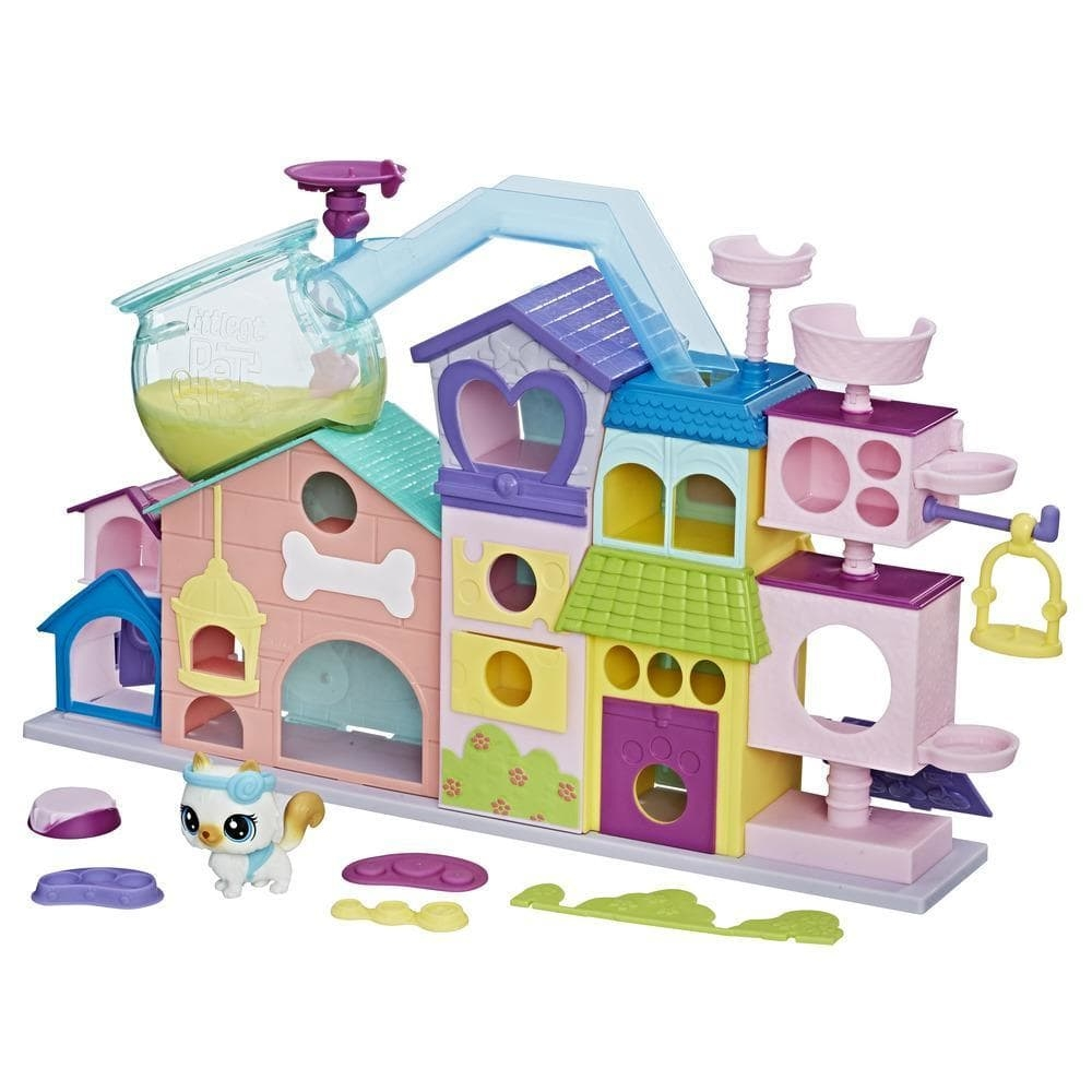 set tematic cu figurine littlest pet shop - apartamentul animalutelor
