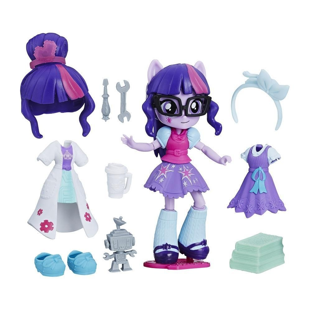 set tematic my little pony equestria girls minis switch 'n mix fashions - twilight sparkle