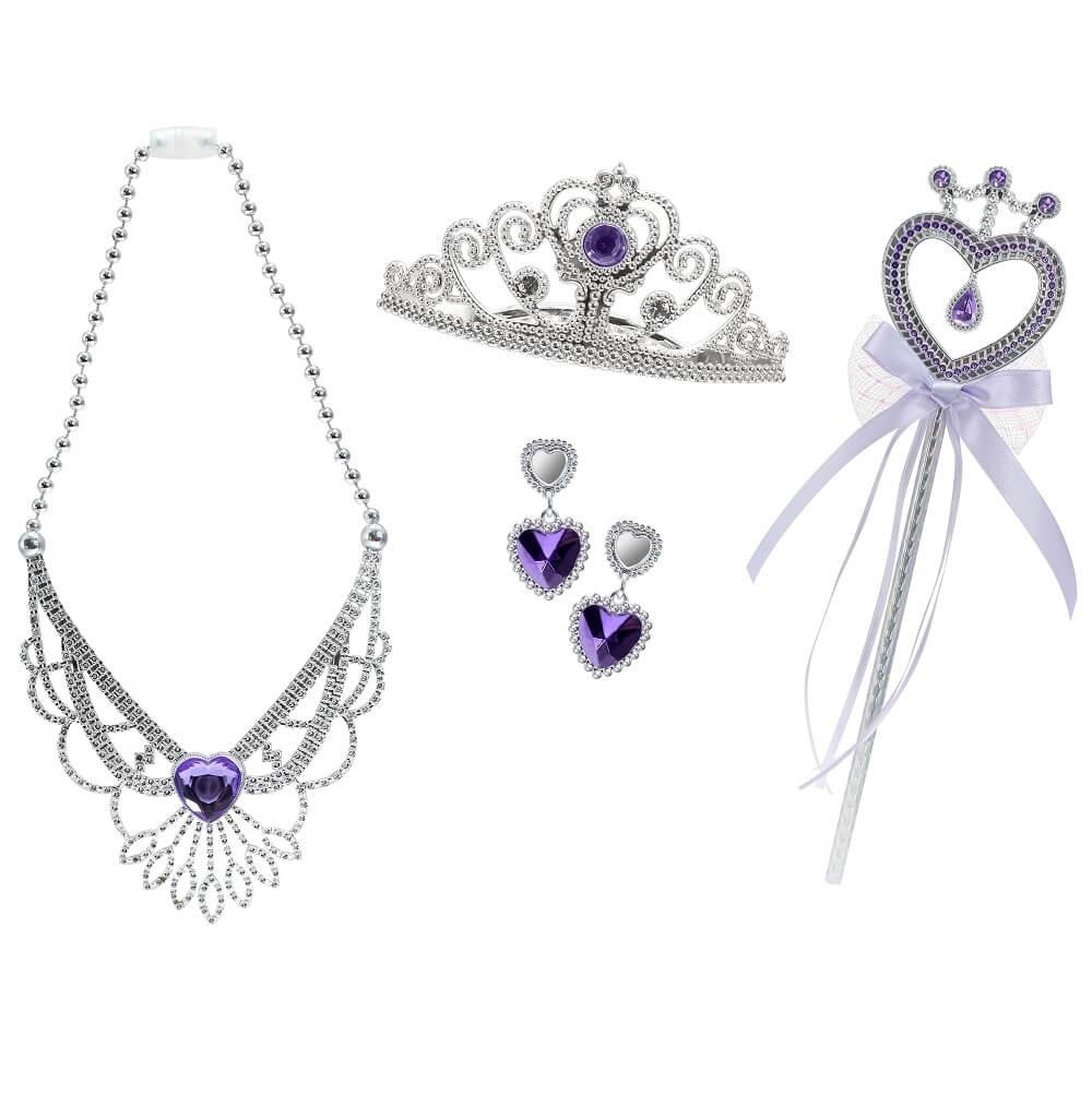 set tiara, bagheta, colier si cercei sparkle girlz - mov