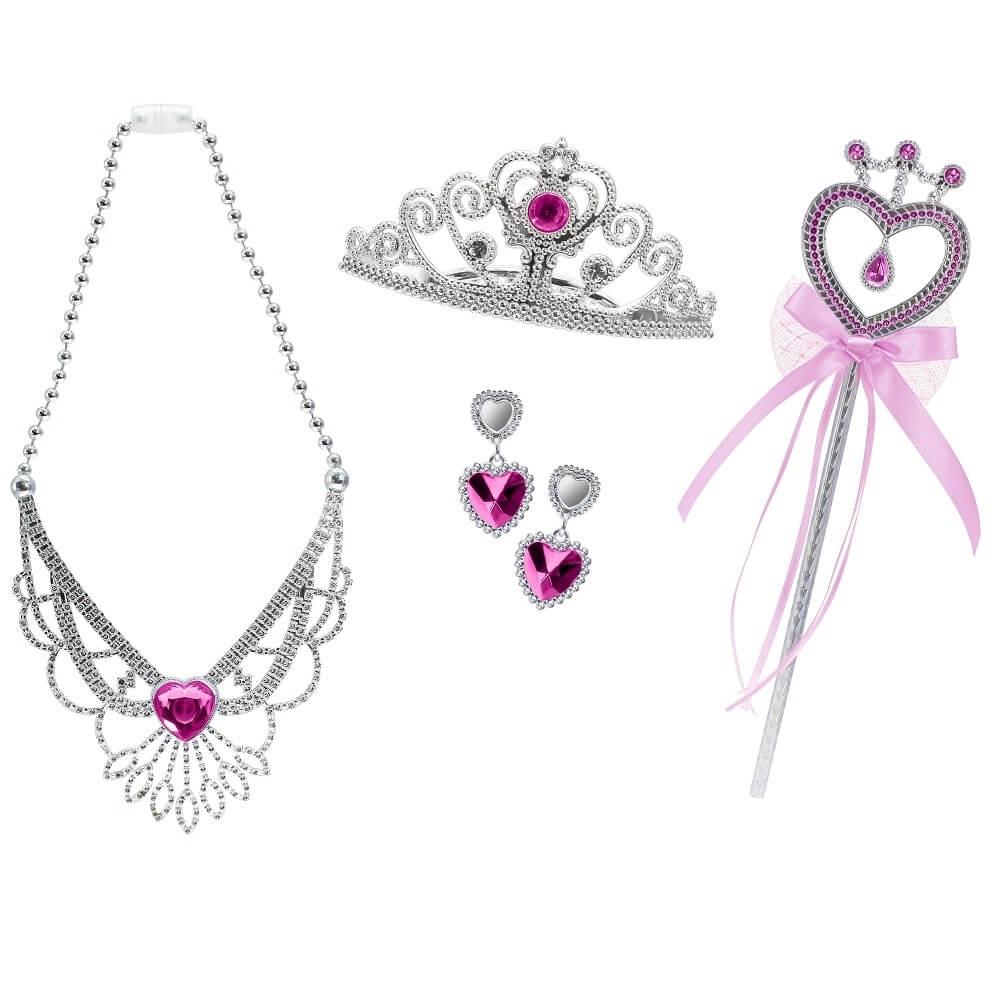 set tiara, bagheta, colier si cercei sparkle girlz - roz