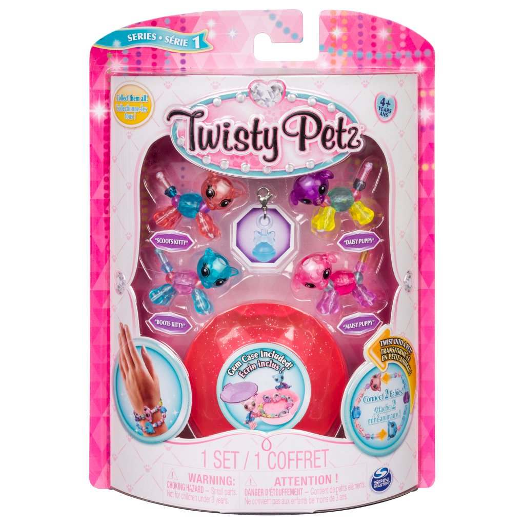 Set 4 bratari Twisty Pets PK 1, 20103015