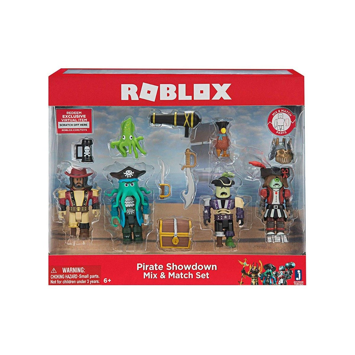 Set 4 figurine interschimbabile Roblox, Pirate Showdown