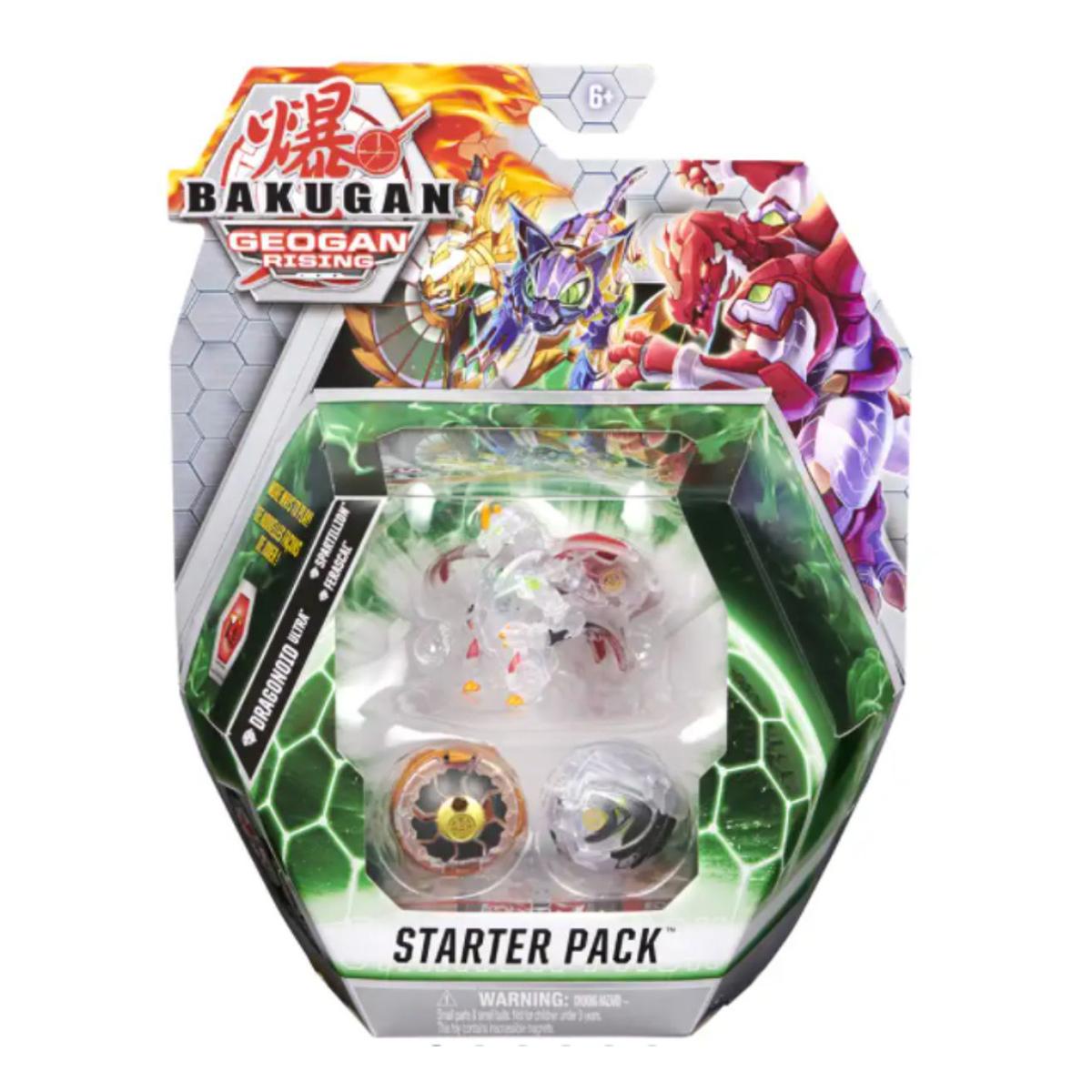 Set Bakugan Geogan Rising, Starter Pack, Dragonoid ultra, Spartillion, Ferascal 20133074