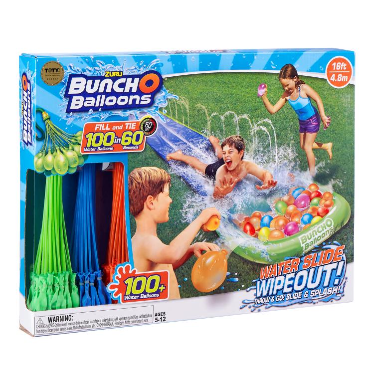 Set baloane pentru apa cu tobogan, 100 buc