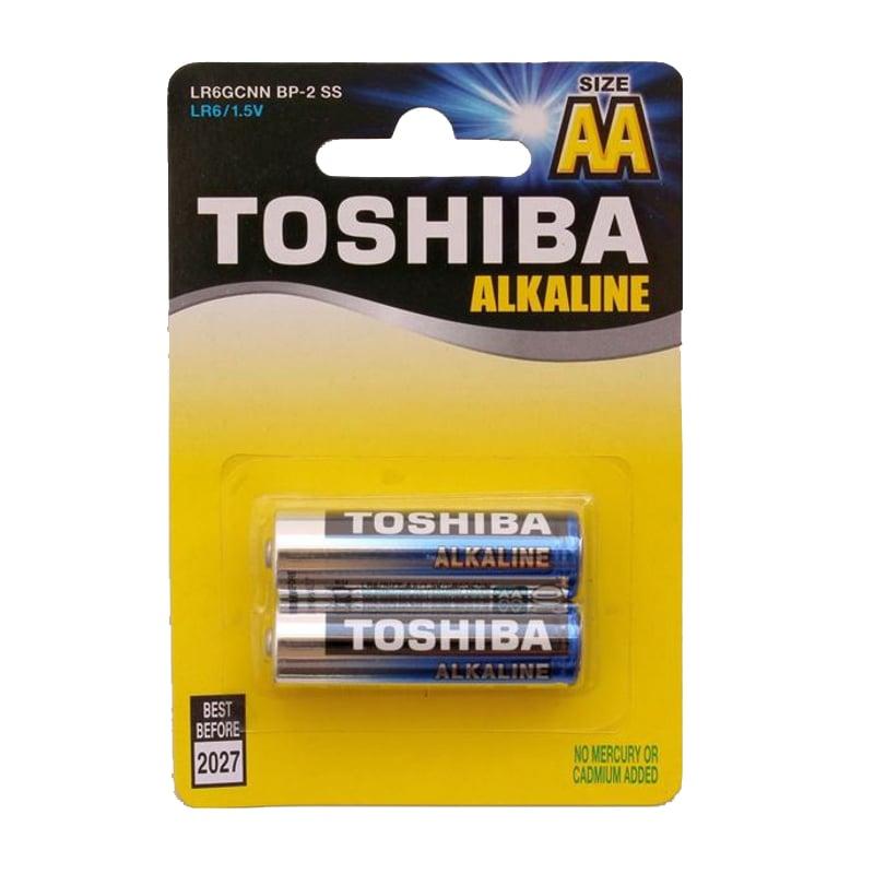Set 2 baterii alkaline Toshiba R6 Blu Line AA imagine 2021