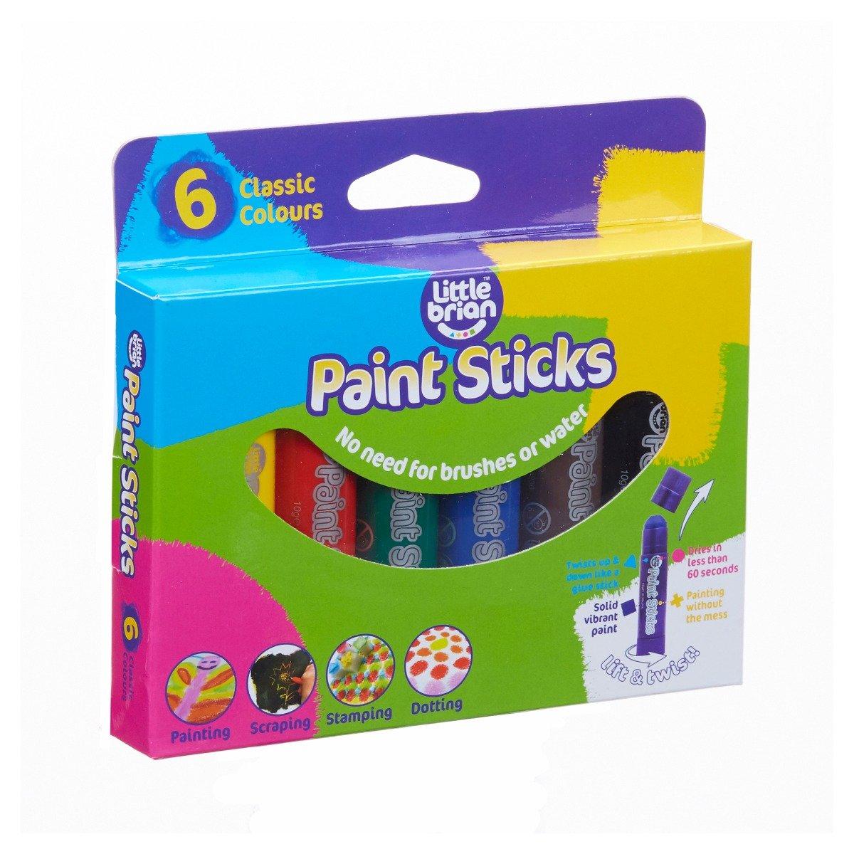 Set batoane de colorat Little Brian, 6 culori clasice