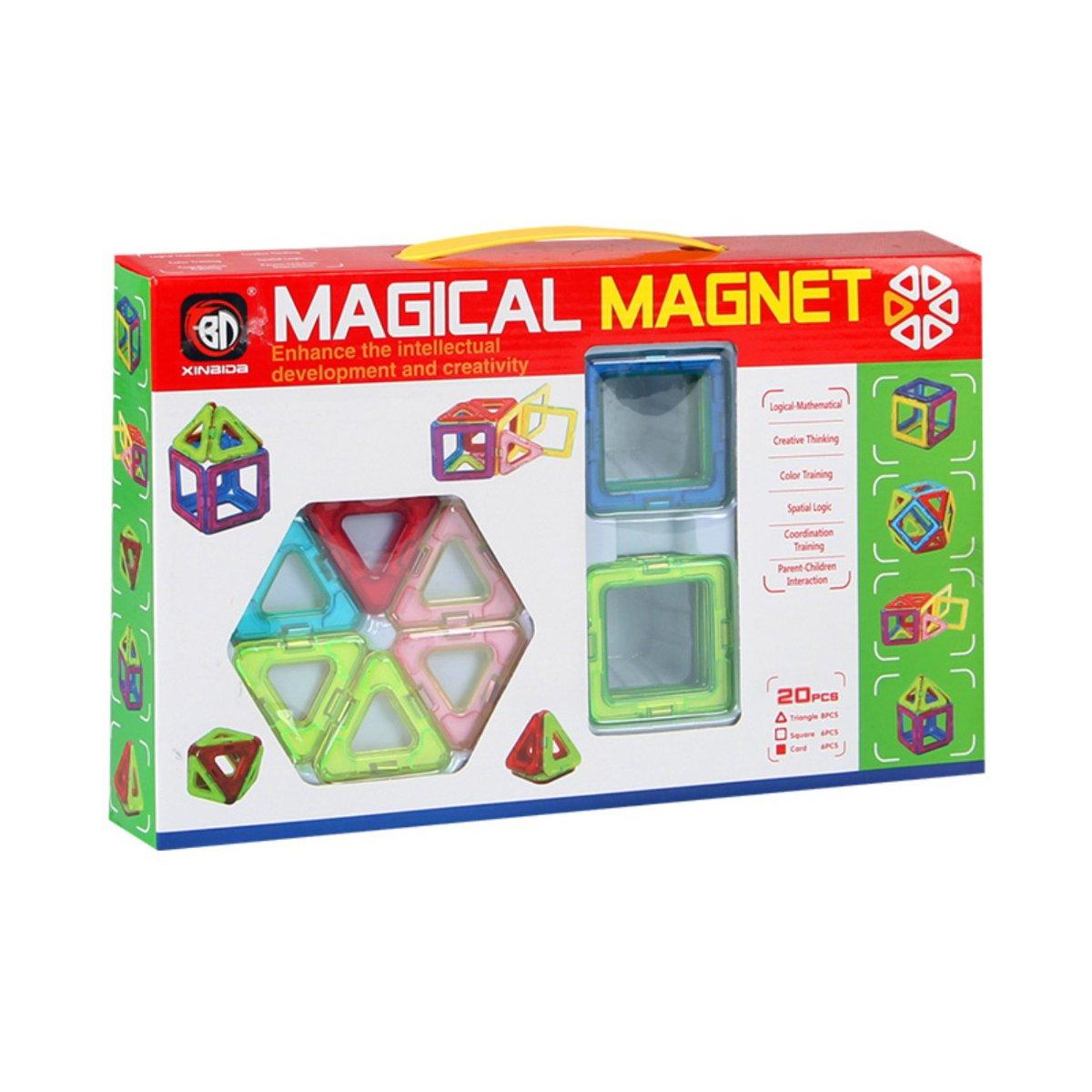 Set De Constructie Magical Magnet, 20 Piese