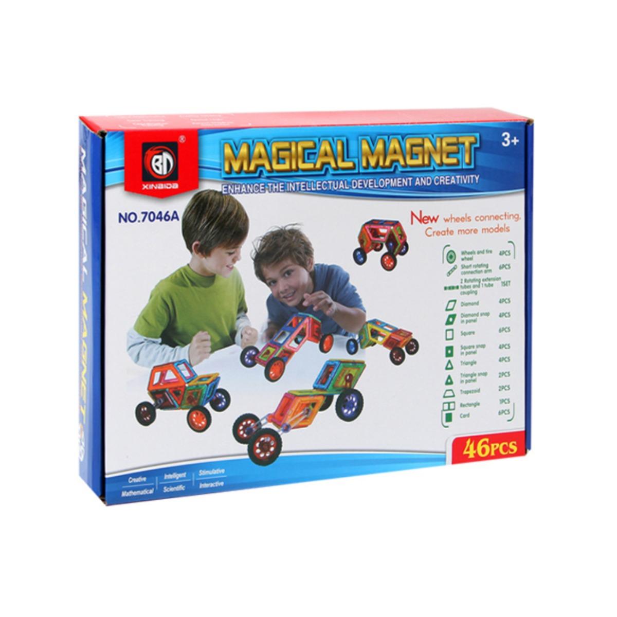 Set de constructie Magical Magnet, 46 piese