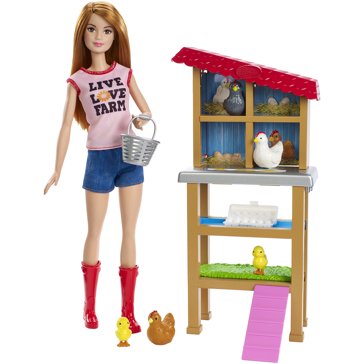 Set de joaca Barbie, Fermier, FXP15