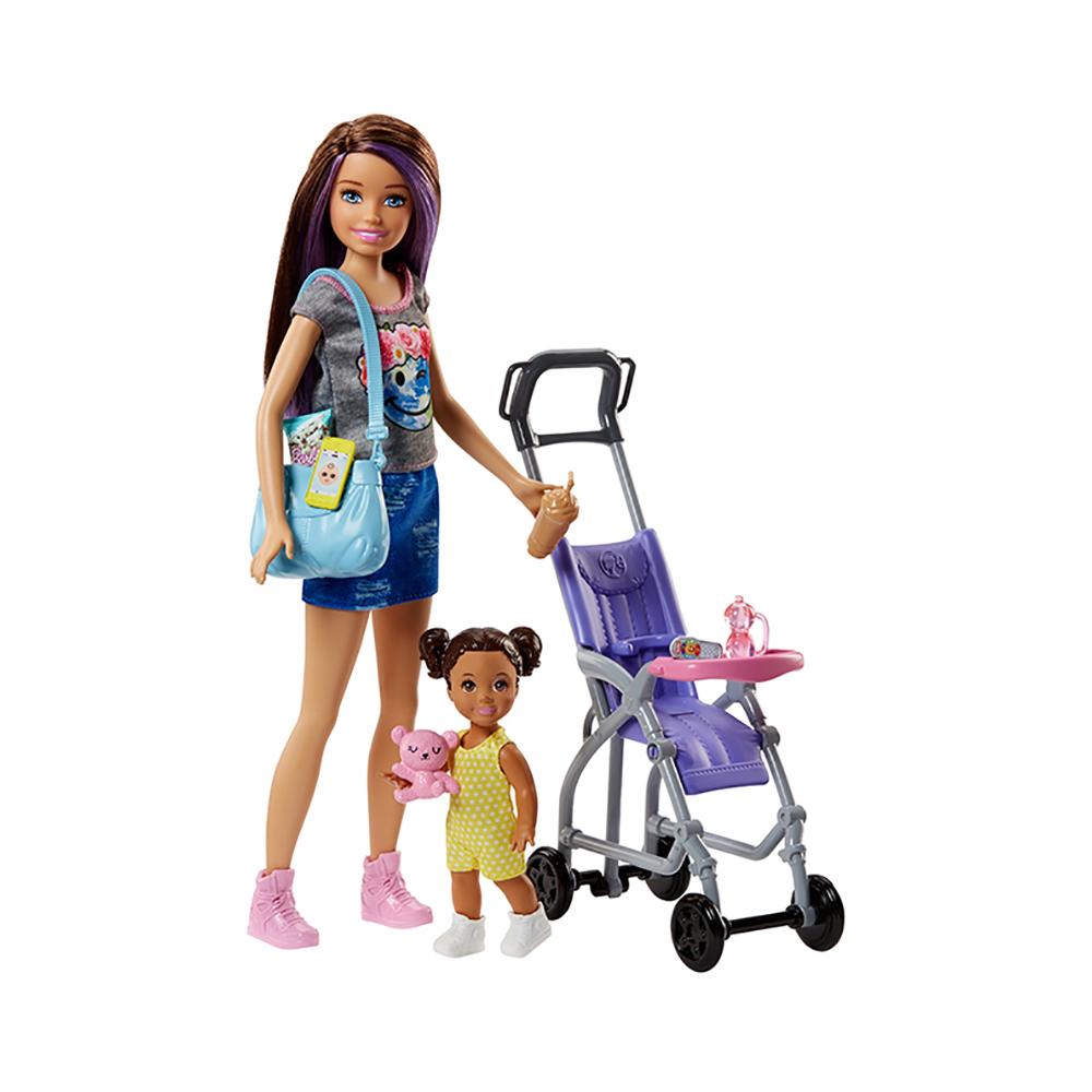 set de joaca ingrijire bebe barbie skipper babysitter inc