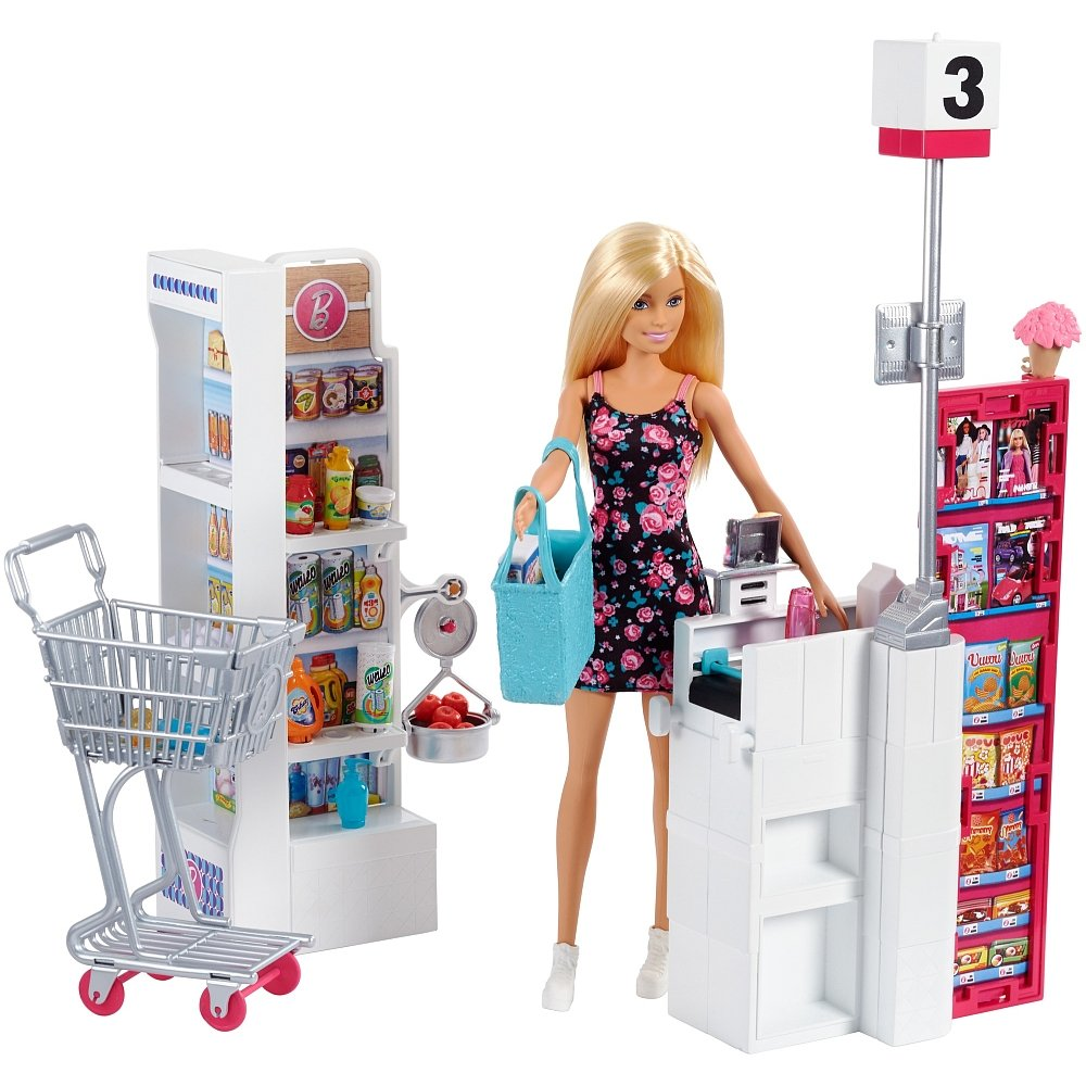 Set de joaca Barbie la supermarket FRP01