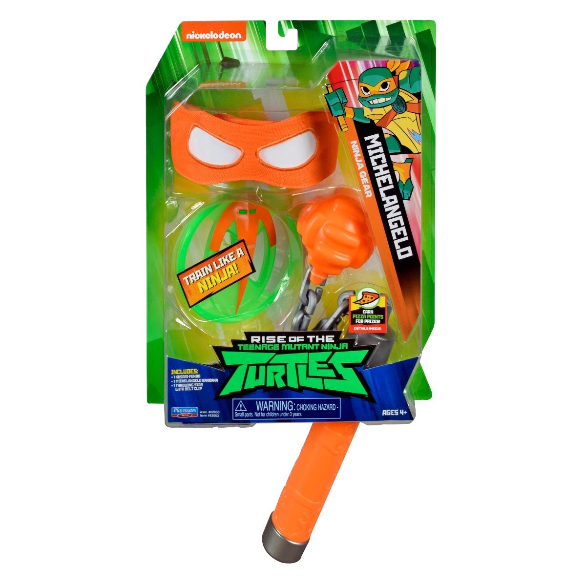 Set masca si accesorii Testoasele Ninja Michelangelo Ninja Gear