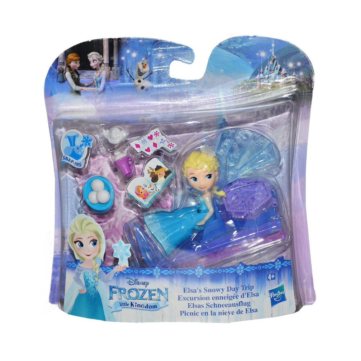 Set figurine Disney Frozen Elsa Little Kingdom - Snowy Day Trip
