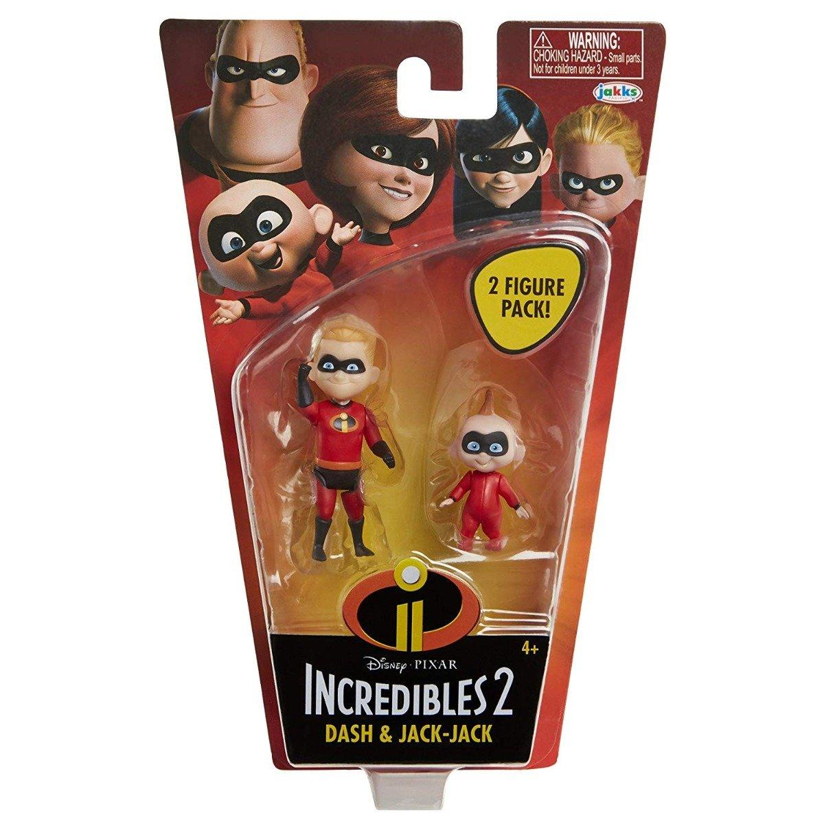 Set Figurine Incredibles - Dash si Jack-Jack, 10 cm