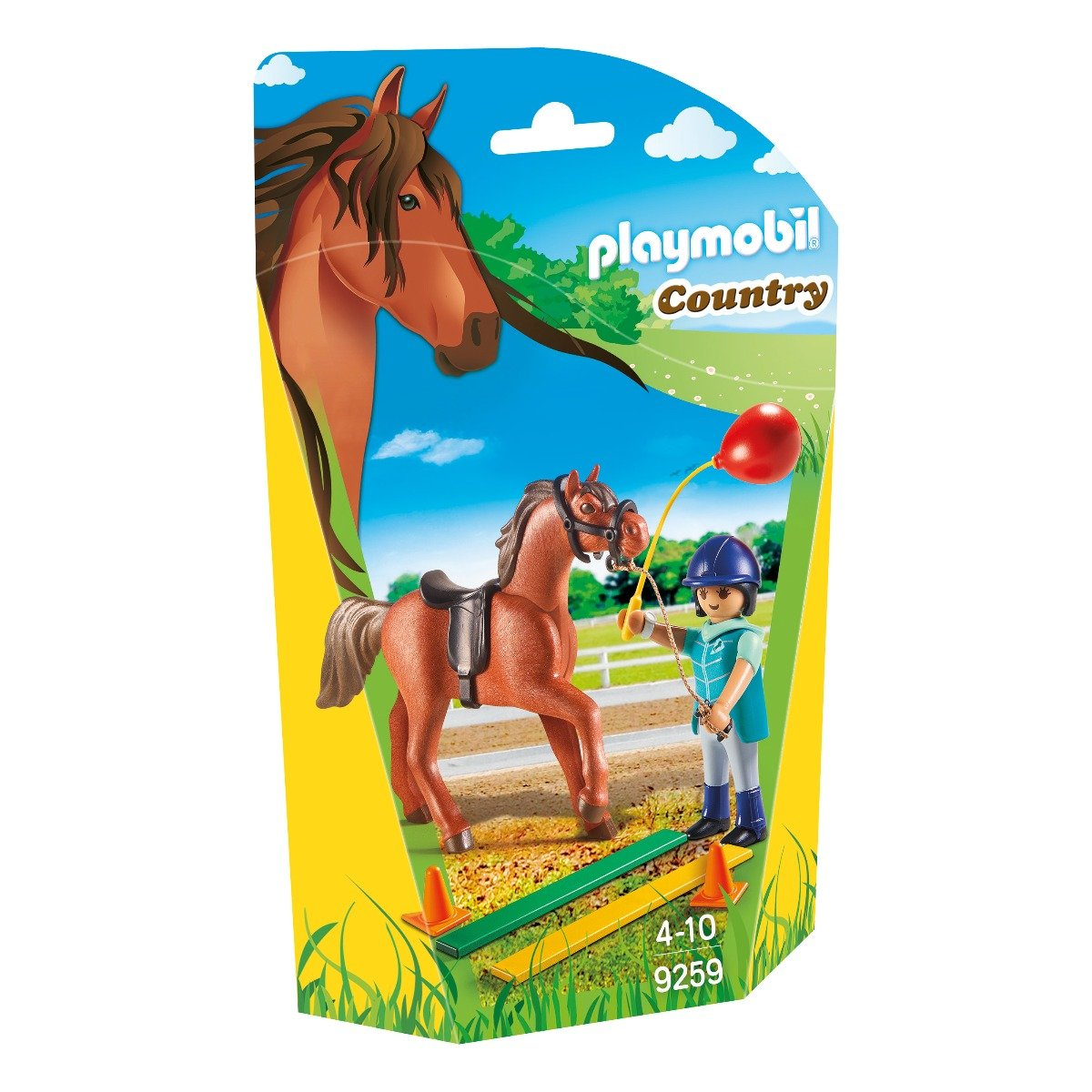 set figurine playmobil country - dresor si cal (9259)