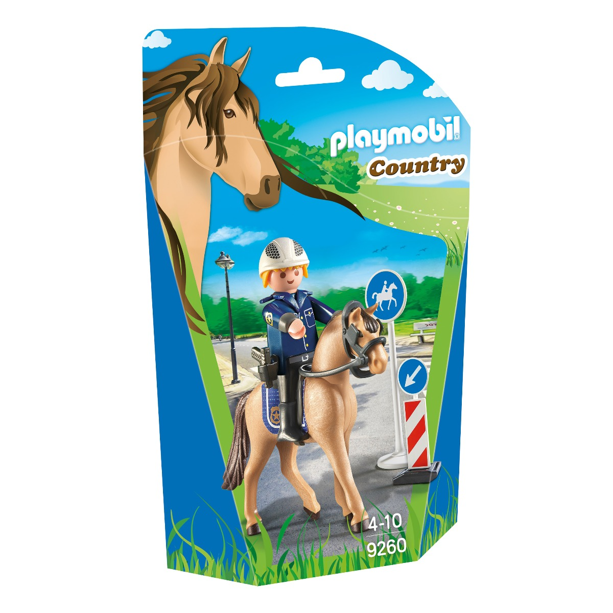 set figurine playmobil country - politist si calul sau (9260)