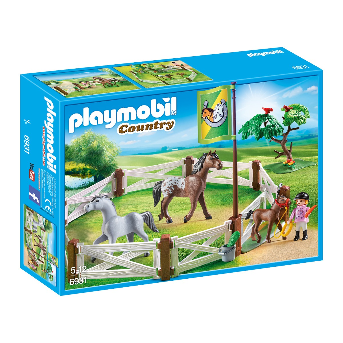 set figurine playmobil country - tarcul cailor (6931)
