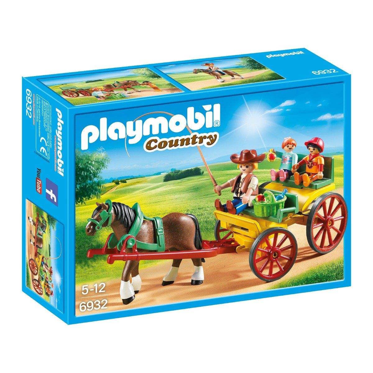 set figurine playmobil country - trasura cu cal (6932)