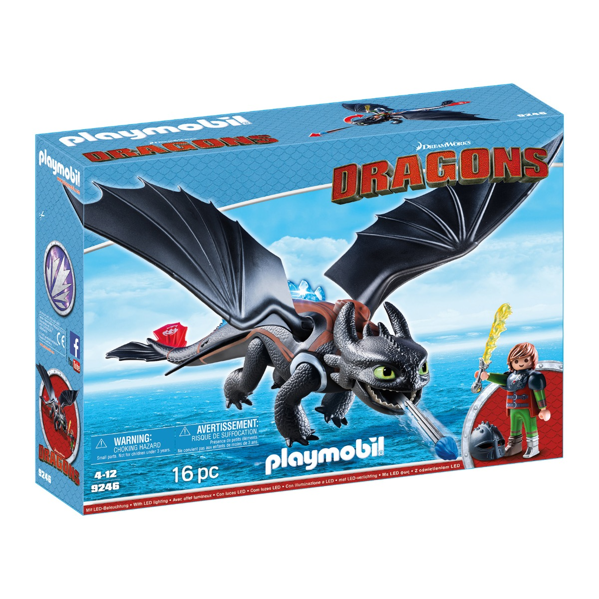 set figurine playmobil dragons - hiccup si toothless (9246)