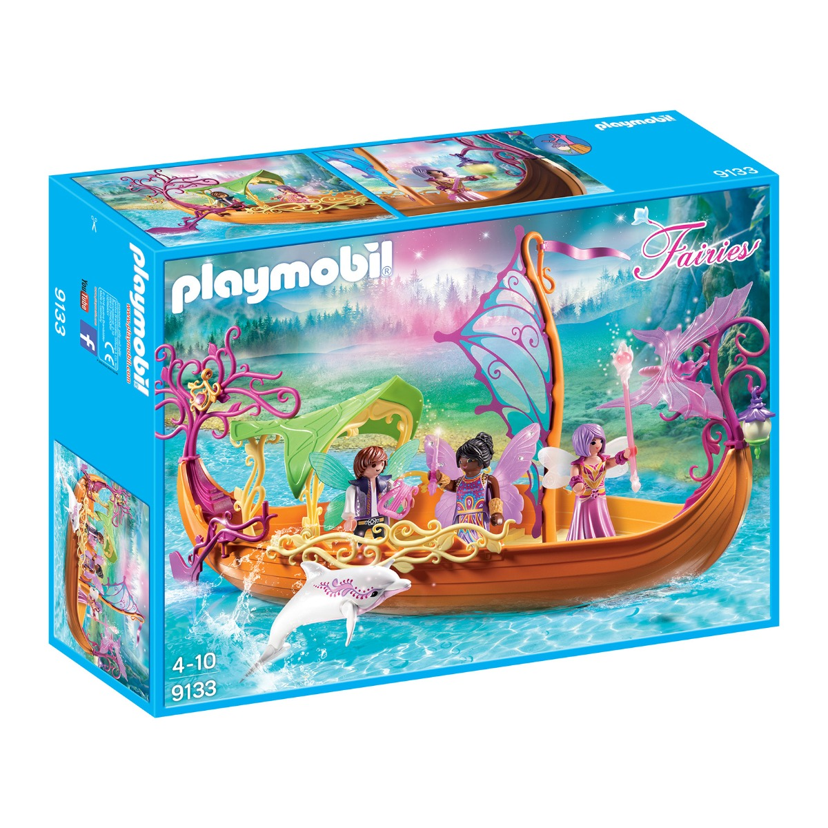 set figurine playmobil fairies - barca magica cu zane (9133)