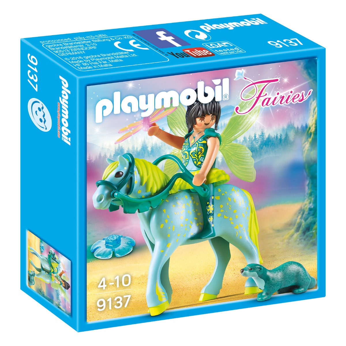 set figurine playmobil fairies - zana cu calul sau (9137)