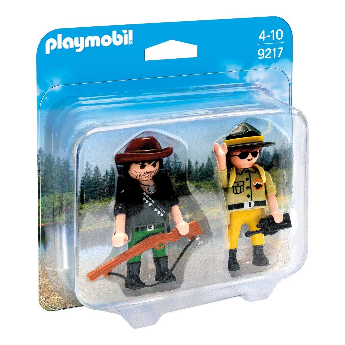 set figurine playmobil wild life - padurar si vanator (9217)