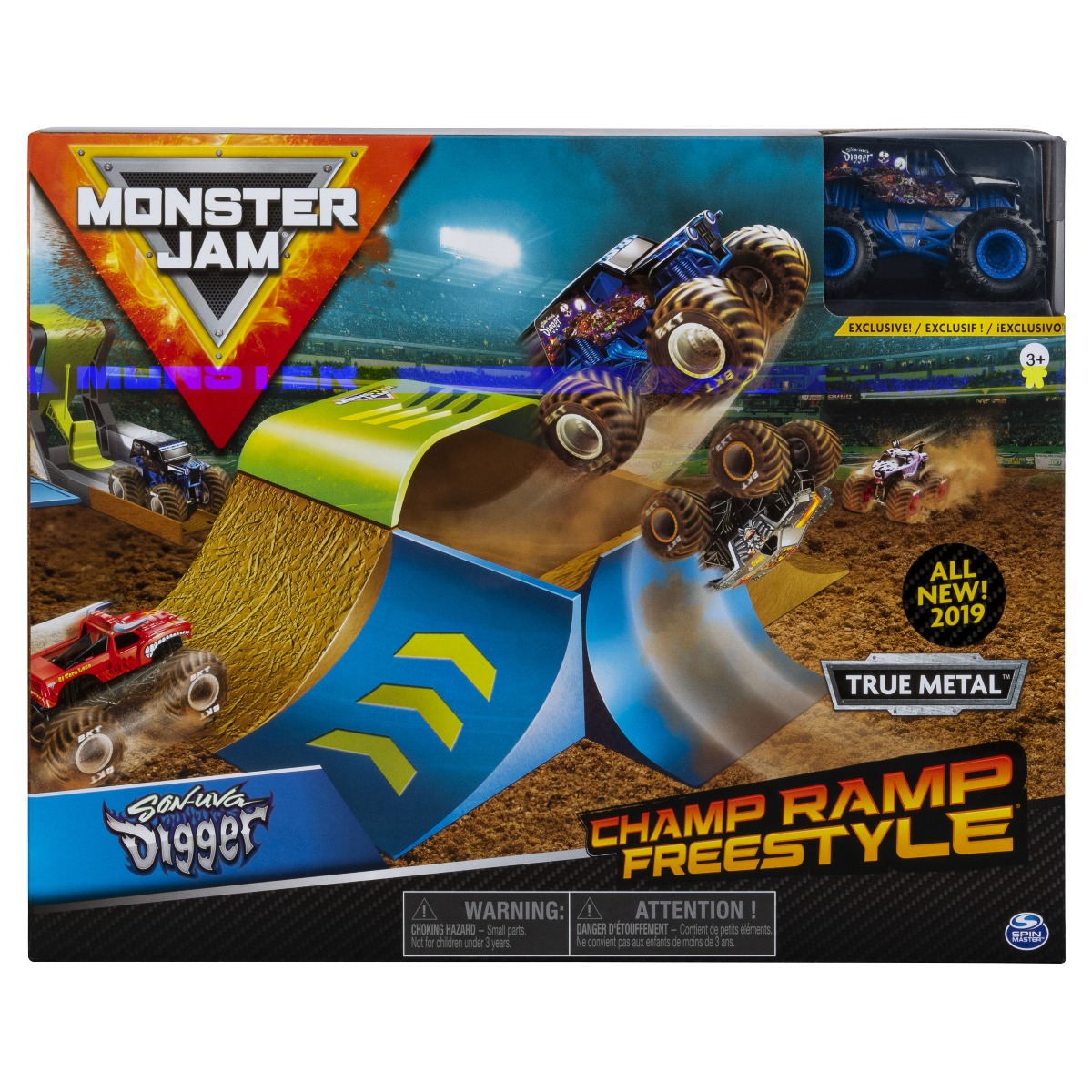 Set masinuta Monster Jam Champ Ramp Freestyle Son-uva Digger
