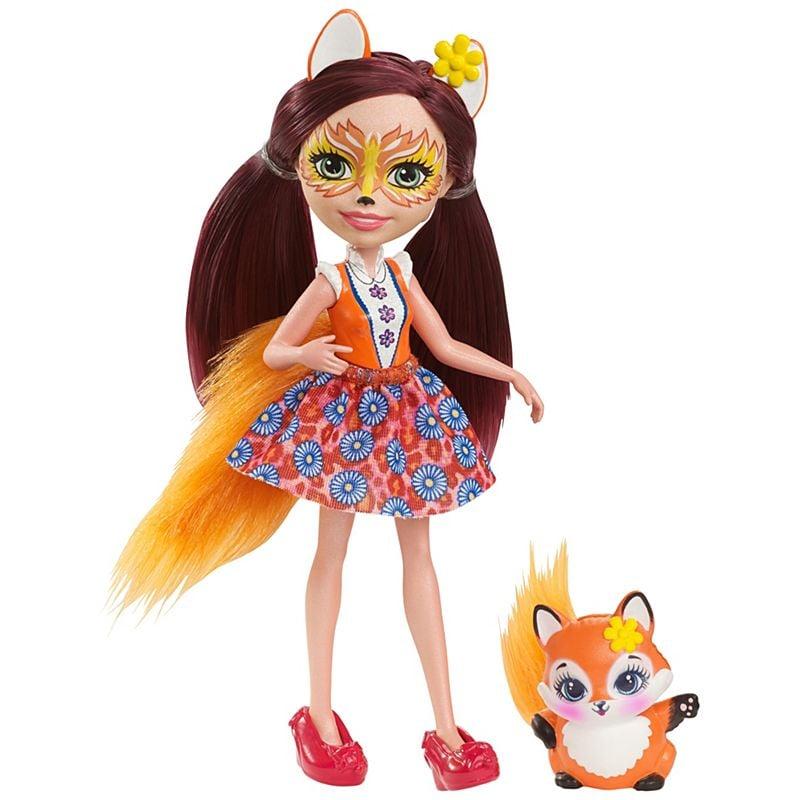 set papusa cu animalut felicity fox mattel enchantimals