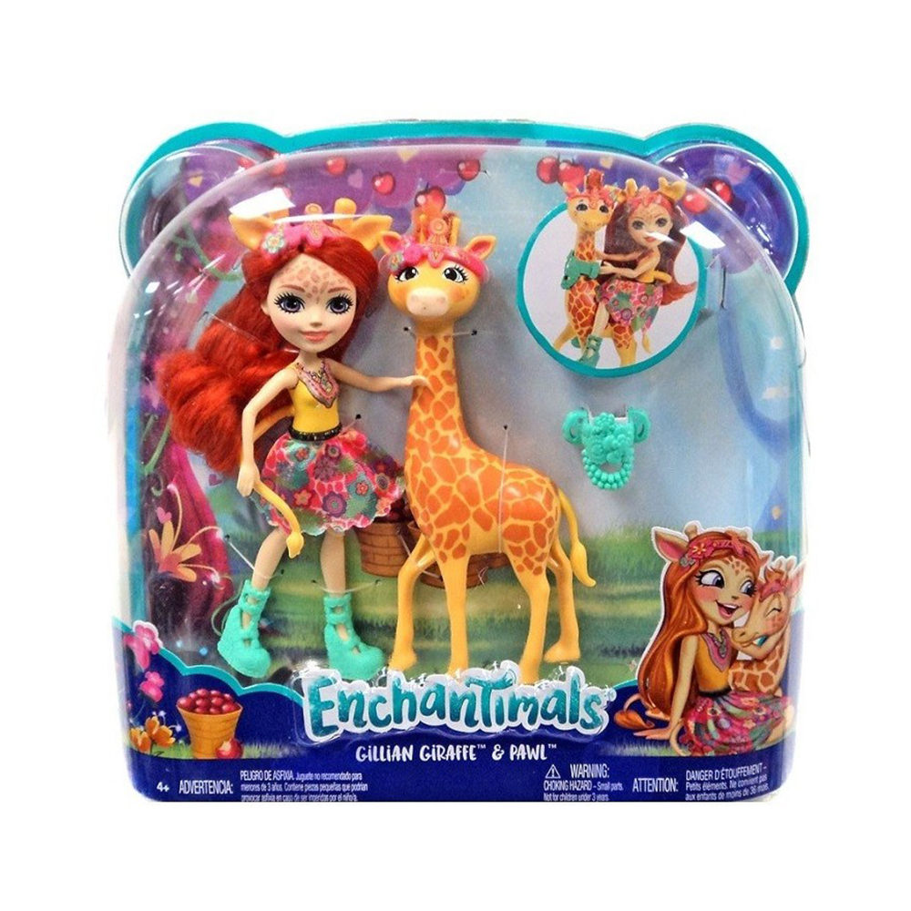 set papusa cu animalut mattel enchantimals, personaj