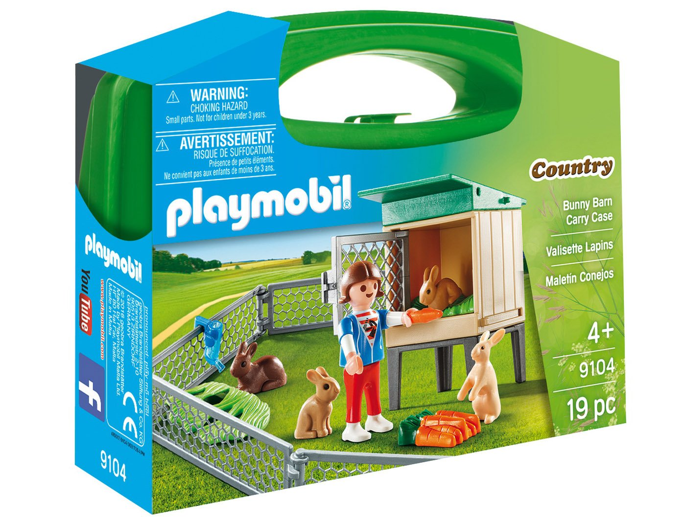 set portabil playmobil country - ferma iepurarilor (9104)