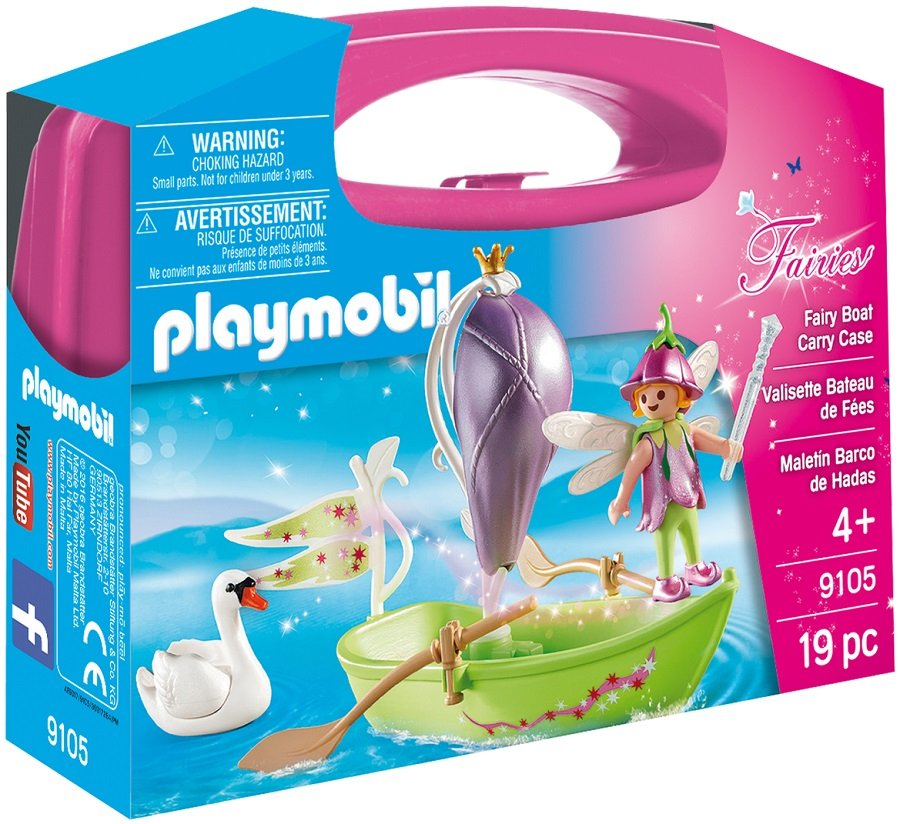 Set portabil Playmobil Fairies - Barcuta cu zane (9105)