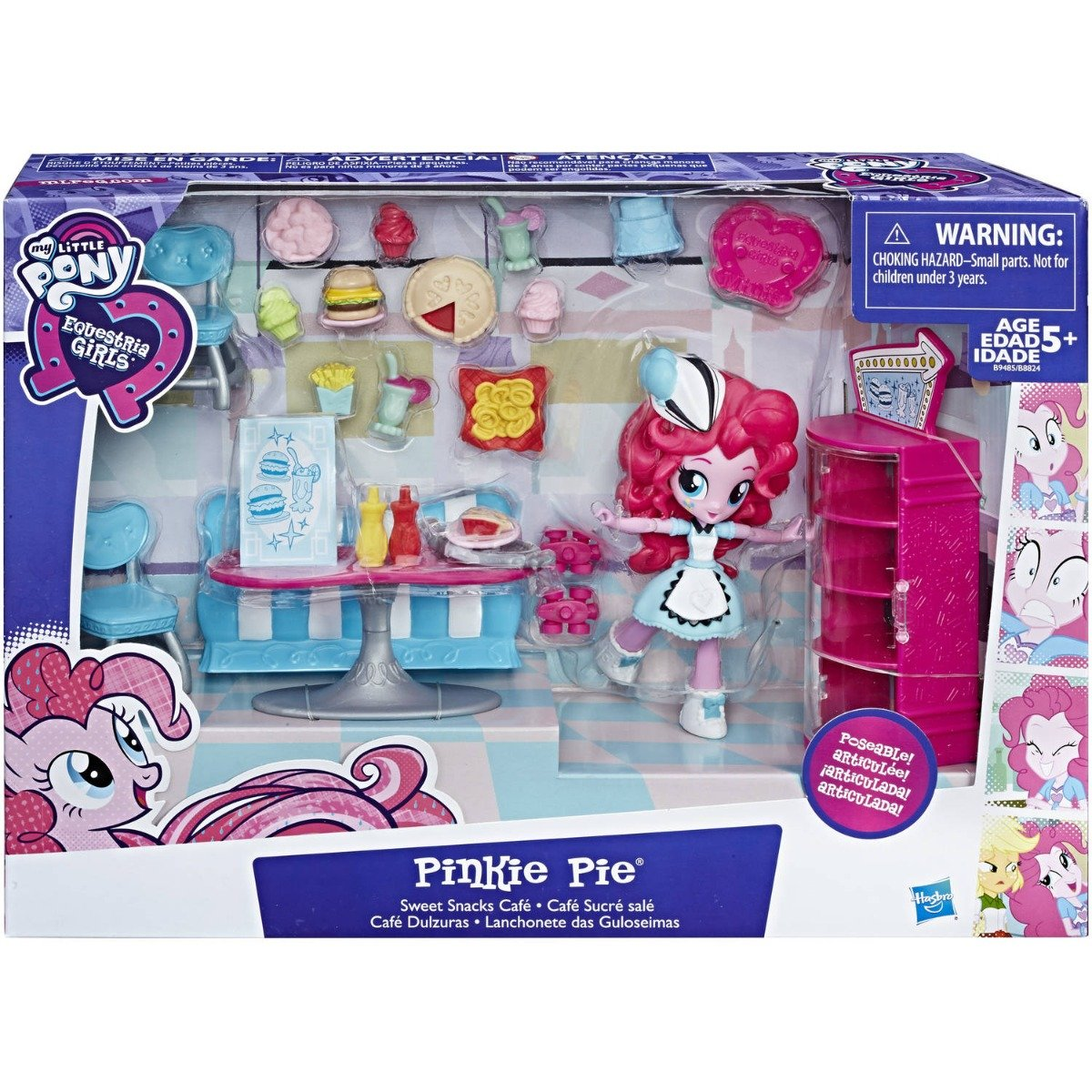 set tematic cu figurina my little pony pinkie pie - cafeneaua cu gustari dulci