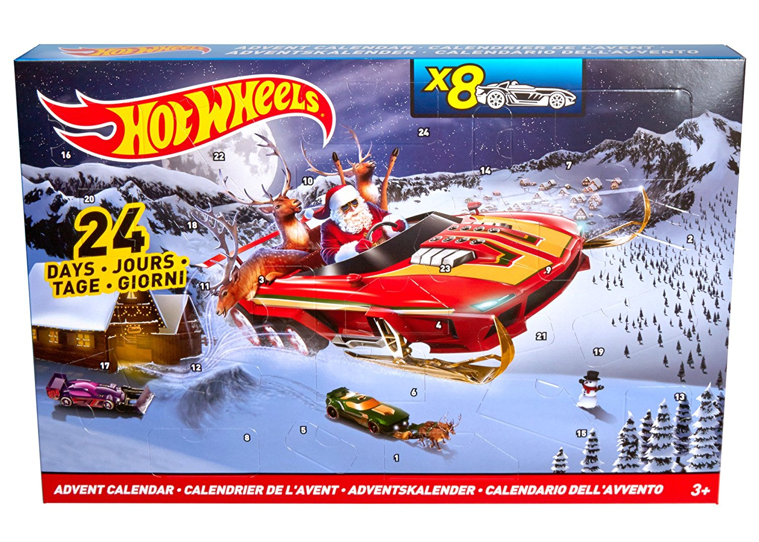 Set Vehicule Si Calendar Hot Wheels
