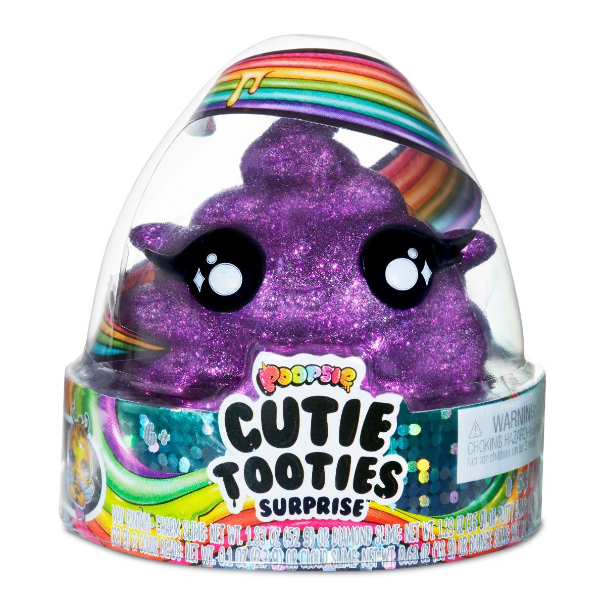 Set figurina surpriza si gelatina Poopsie Cutie Tooties Surprise, S2, Mov inchis