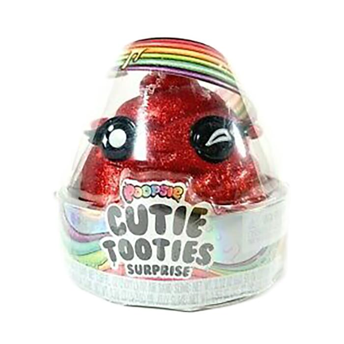 Set figurina surpriza si gelatina Poopsie Cutie Tooties Surprise, S2, Rosu