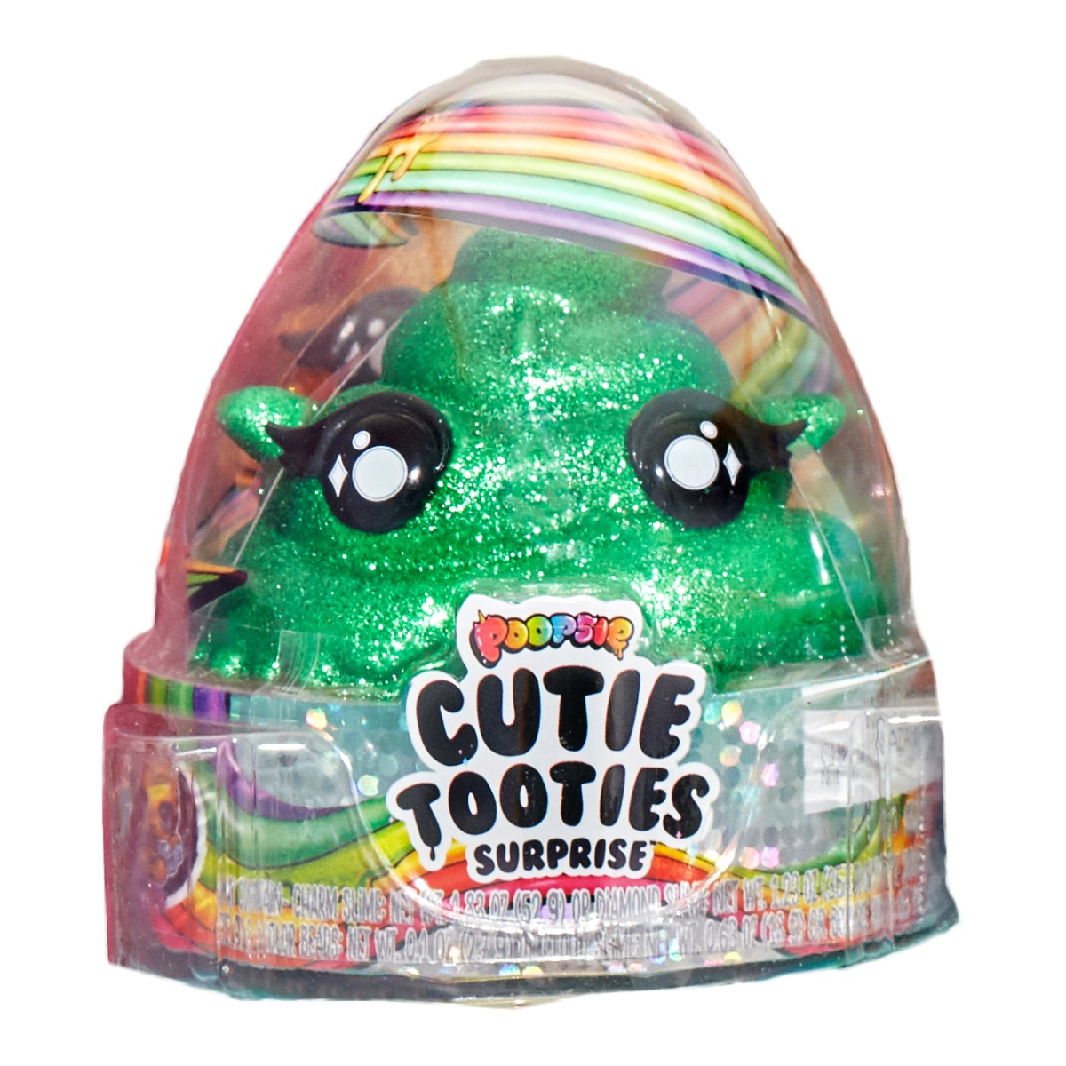 Set figurina surpriza si gelatina Poopsie Cutie Tooties Surprise, S2, Verde