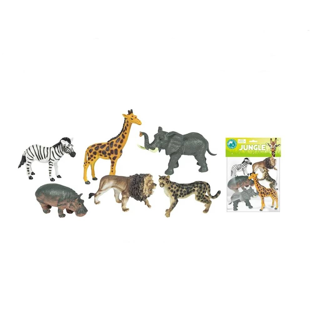 Set 6 figurine Animale salbatice jungla Toy Major