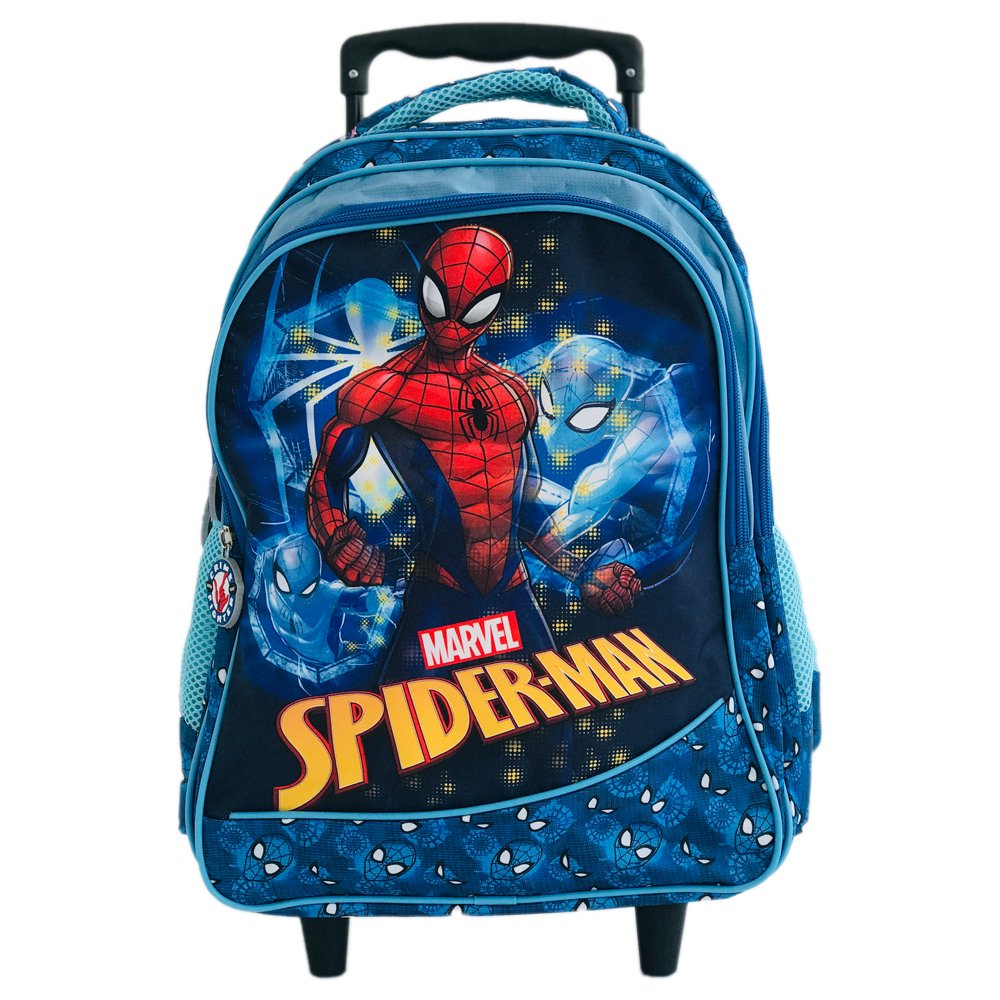 Ghiozdan maxi tip troler, 3 compartimente, Spiderman