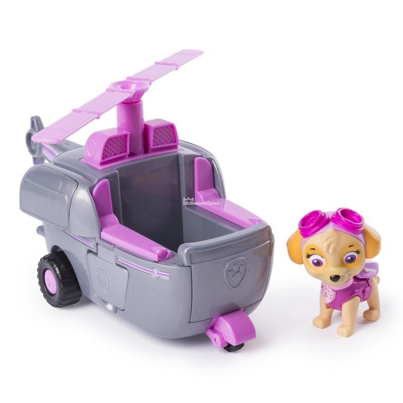 Figurina cu autovehicul Paw Patrol, Skye cu elicopter