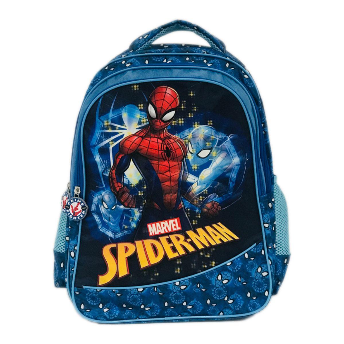 Ghiozdan maxi Spiderman, 3 compartimente