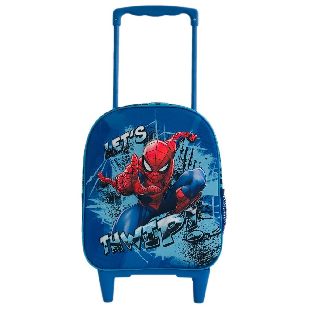Ghiozdan 3D mini tip troler Spiderman